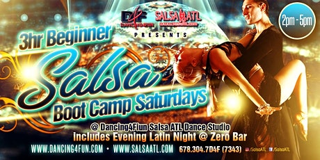 3hr Beginner Salsa Boot Camp @ Dancing4Fun Salsa ATL Studio Saturdays tickets