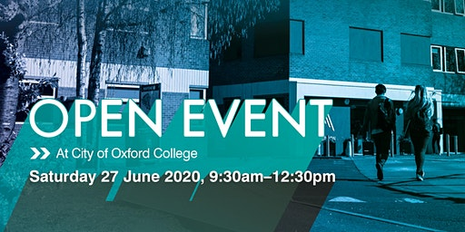 City of Oxford College Summer Open Event