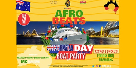 AFROBEATS Australia Day BOAT Party tickets