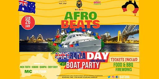 AFROBEATS Australia Day BOAT Party