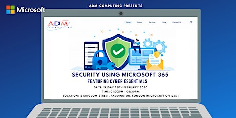 Security using Microsoft 365, featuring Cyber Essentials tickets