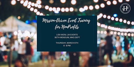 Mission-Driven Event Training for Nonprofits tickets