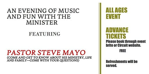 Meet The Minister: An Evening of Music and Fun with Pastor Steve Mayo