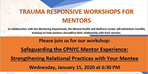Trauma Responsive Workshops for Mentors
