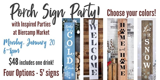 NEW! Porch Sign Sip & Paint Party!