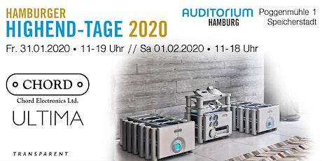 Hamburger HIGHEND-TAGE 2020: CHORD ELECTRONICS Tickets