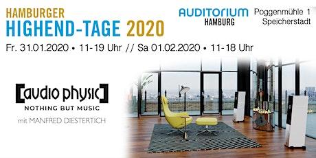 Hamburger HIGHEND-TAGE 2020: AUDIO PHYSIC Tickets