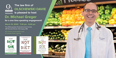 Speaking engagement with Dr. Michael Greger  tickets