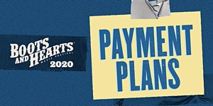 Boots and Hearts 2020 - Payment Plan