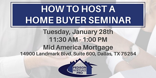 How to Host a Home Buyer Seminar