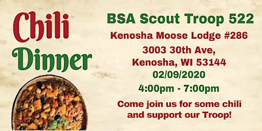 BSA Scout Troop 522 2nd Annual Chili Dinner