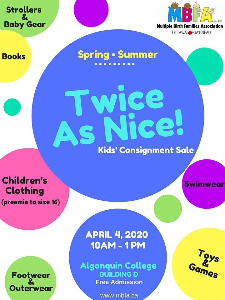 **Postponed** Twice As Nice Kids' Consignment Sale - Spring/Summer 2020 image