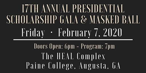 17th Annual Presidential Scholarship Gala & Masked Ball