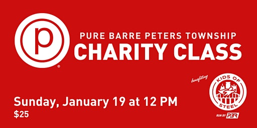 Pure Barre Peters Twp Charity Class - Benefiting Kids of STEEL