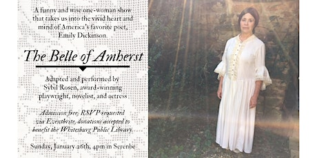 The Belle of Amherst, Performed by Sybil Rosen tickets