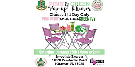 """Pink & Green """"Pop Up"""" Takeover tickets"""