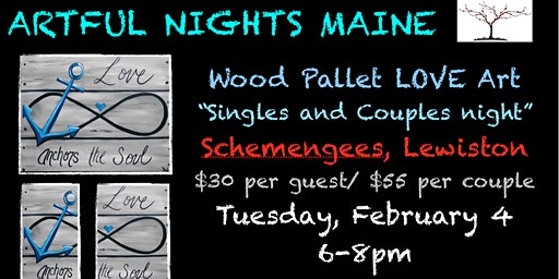 Wood Pallet LOVE Art at Schemengees Lewiston