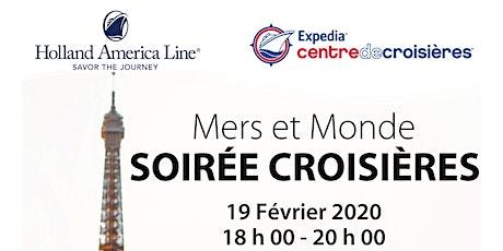 Mers et Monde avec Holland America Line tickets