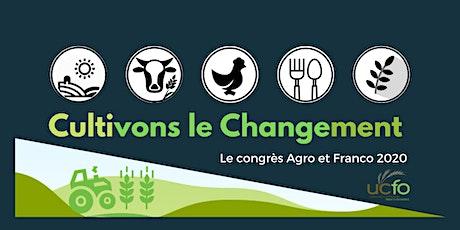 Congrès AGRO & FRANCO 2020- Cultivons le changement billets