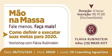 MÃO NA MASSA tickets