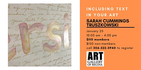 INCLUDING TEXT IN YOUR ART WITH SARAH CUMMINGS TRUSZKOWSKI tickets