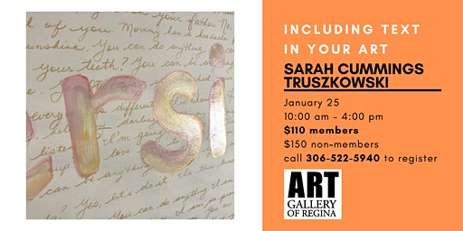 INCLUDING TEXT IN YOUR ART WITH SARAH CUMMINGS TRUSZKOWSKI