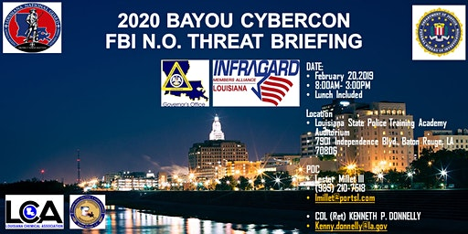 2020 BAYOU CYBERCON  FBI New Orleans Threat Briefing