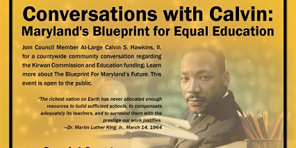 Conversations with Calvin: Maryland's Blueprint for Equal Education
