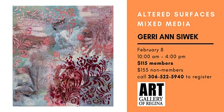ALTERED SURFACES WITH GERRI ANN SIWEK tickets