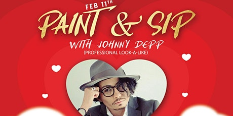 Paint & Sip with Johnny Depp (Professional Look Alike) tickets
