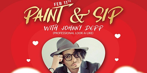 Paint & Sip with Johnny Depp (Professional Look Alike)
