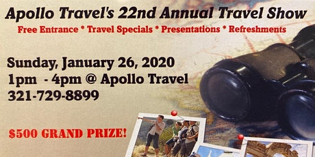 Apollo Travel's 22nd Annual Travel Show - Free tickets