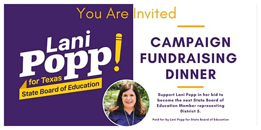 Fundraiser for Lani Popp, State Board of Education