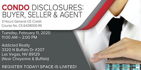 Sell That Condo! Disclosures CE class tickets