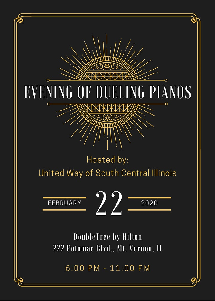 United Way of South Central Illinois Evening of Dueling Pianos image