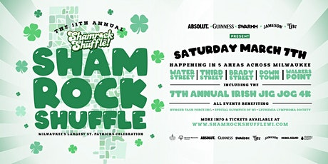 11th Annual Shamrock Shuffle - DOWNTOWN / CATHEDRAL SQ tickets