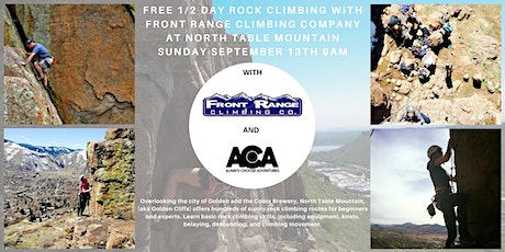 FREE 1/2 Day Rock Climbing at North Table Mountain with Always Choose Adventures  tickets