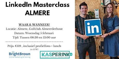 LinkedIn Masterclass ALMERE, incl. Profielfoto (€119,- ex BTW)  tickets