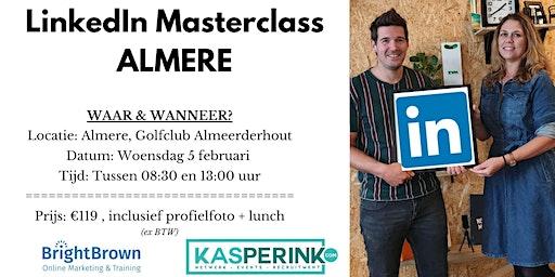 LinkedIn Masterclass ALMERE, incl. Profielfoto (€119,- ex BTW)