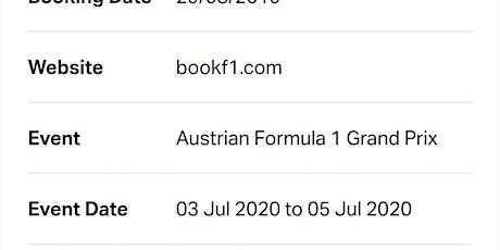 Formula 1 Austria Grand Prix 2020 Tickets