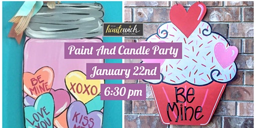 Paint and Candle Party: Galentine's Day Edition