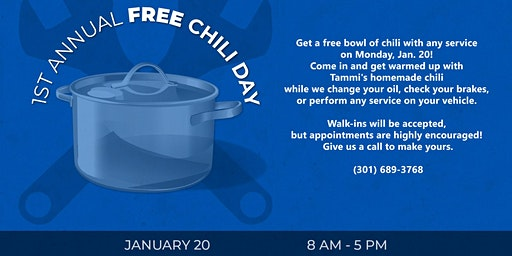 Free Chili Day at Langley's Auto Service