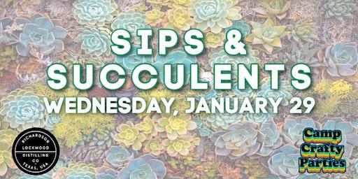Sips & Succulents at Lockwood Distilling Company