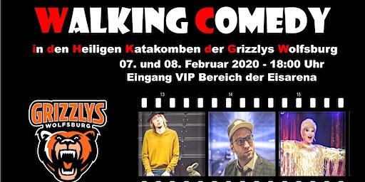 Walking Comedy in den heiligen Katakomben der Grizzlys Wolfsburg