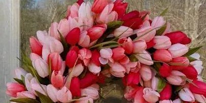 Spring tulip wreath making class