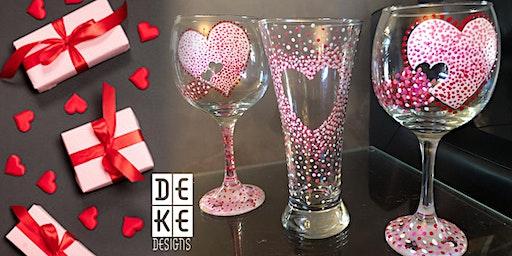 Ladies Night - DeKe Designs Paint Hearts on Glass Instructional Classes