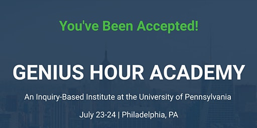 Genius Hour Academy: Inquiry-Based Institute