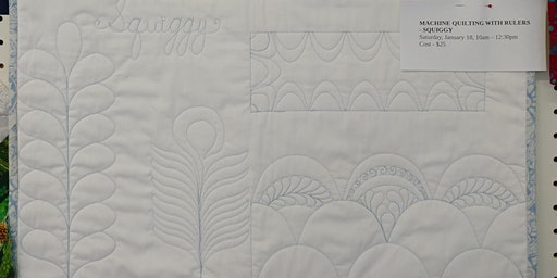 Machine Quilting with Rulers - Squiggy