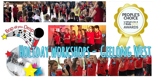 Bop till you Drop GEELONG WEST Easter School Holiday Performance Workshop for Children - (2 days) BOOK EARLY AND SAVE!