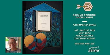 Acrylic Painting Social Night with Maritza Davila - Powered by Arrow tickets